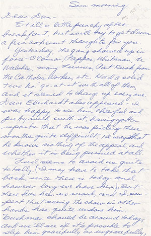 Letter from Philip Berrigan to Daniel Berrigan, August 1968 (?)